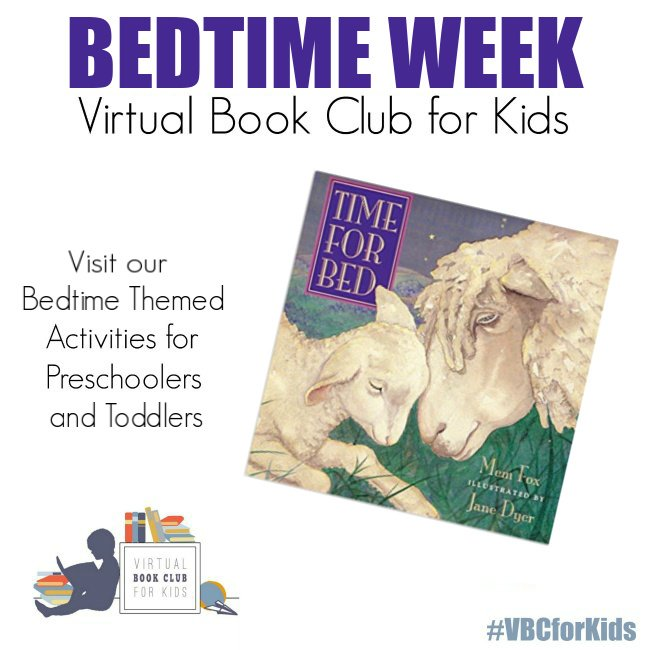 Time for Bed Book Cover featuring Book Activities for Kids