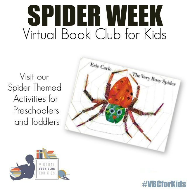 The Very Busy Spider Book Cover featuring Book Activities for Kids