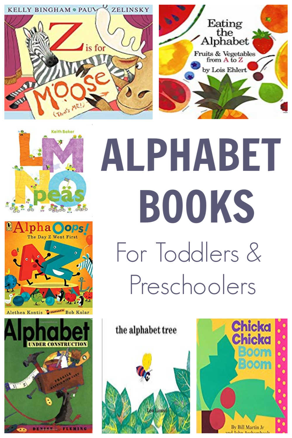 Favorite alphabet books to read together with your toddler and preschooler to help them learn their ABCs