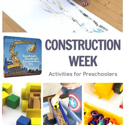 Construction Week for Preschoolers featuring Goodnight Construction Site