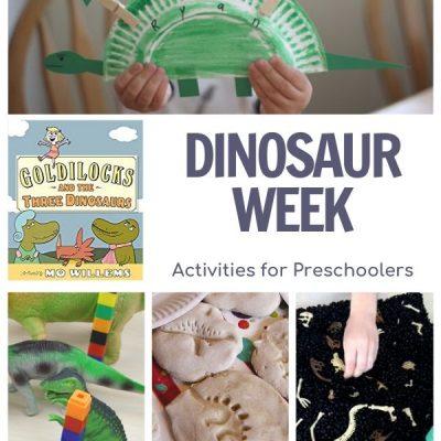 Dinosaur Week for Preschoolers Featuring Goldilocks and the Three Dinosaurs