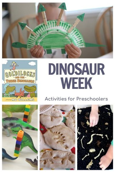 dinosaur week activities for preschoolers