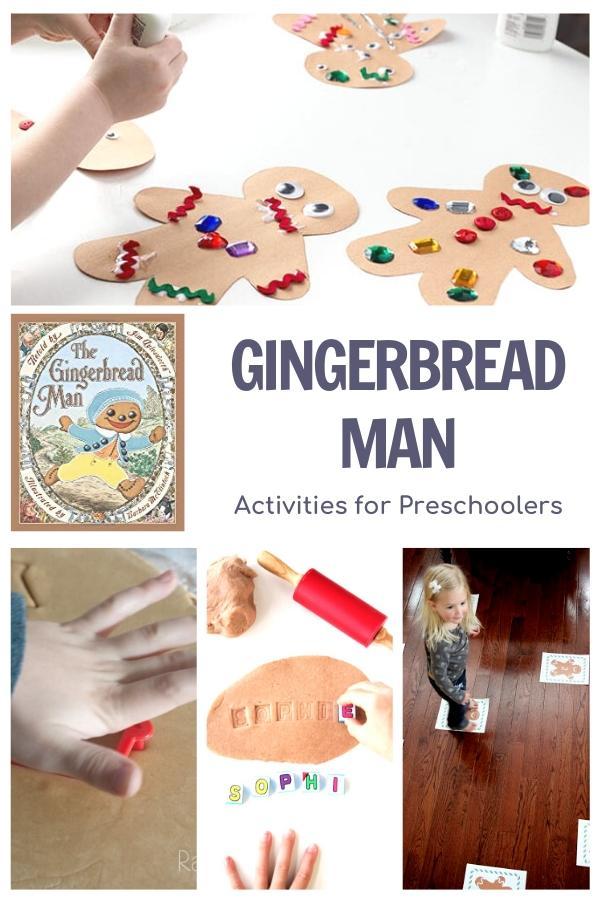 gingerbread man themed activities for preschoolers