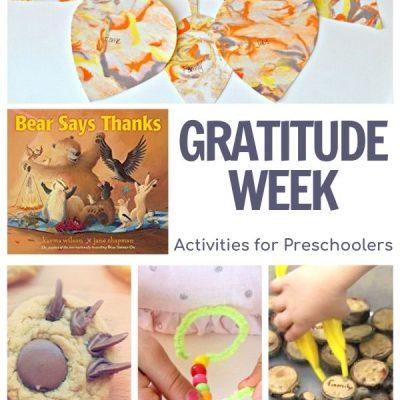 Gratitude Week For Preschoolers Featuring Bear Says Thanks