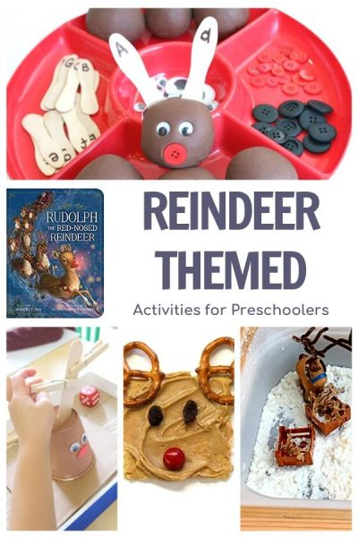 Reindeer Themed Activity Collage for preschool fun