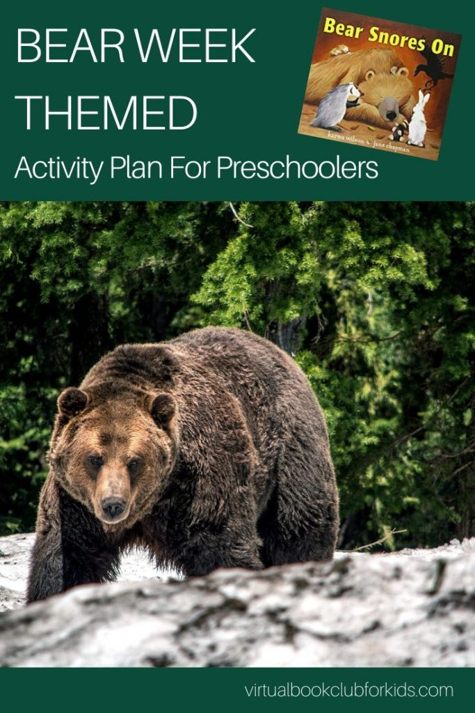 bear week themed activity plan for preschoolers