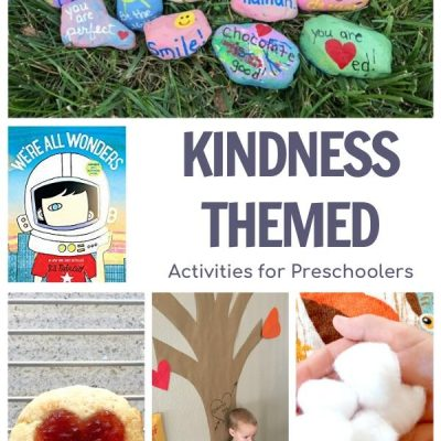 Kindness Week for Preschoolers featuring We're All Wonders