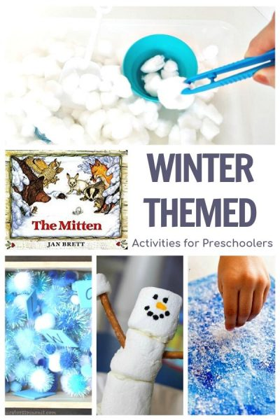 winter themed activity plan for a week of simple easy activities to do with your preschooler