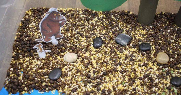 The Gruffalo Sensory Bin for Toddlers and Preschoolers