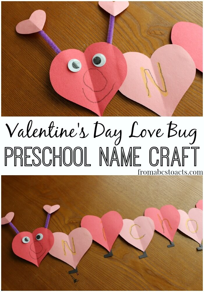 Love Bug Name Craft for Preschoolers