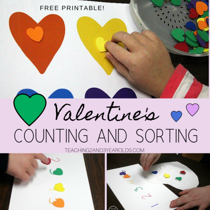 Valentine's Counting and Color Sorting Activity