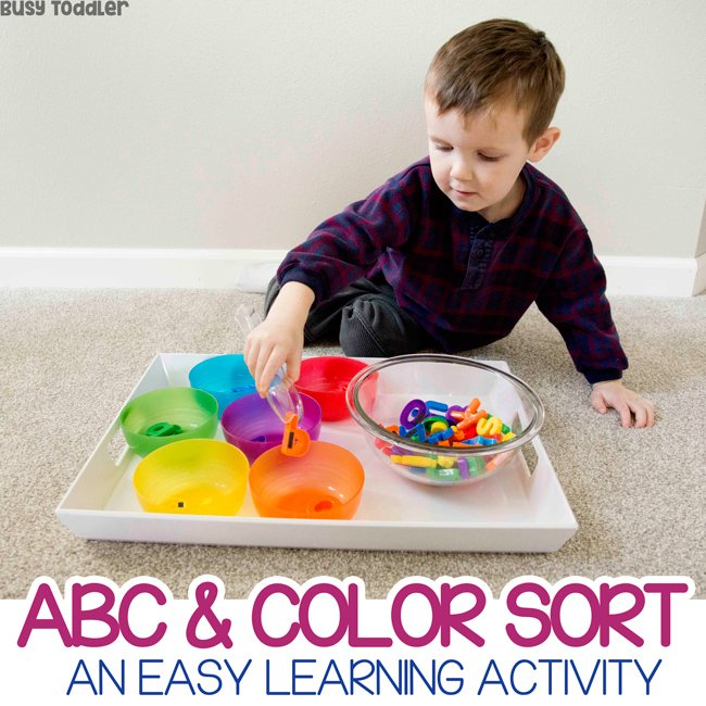 Easy ABC Color Sort Learning Activity