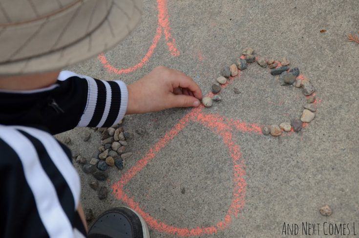 Alphabet Learning with Chalk & Rocks