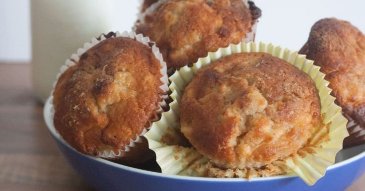 Easy and Quick Apple and Cinnamon Breakfast Muffins