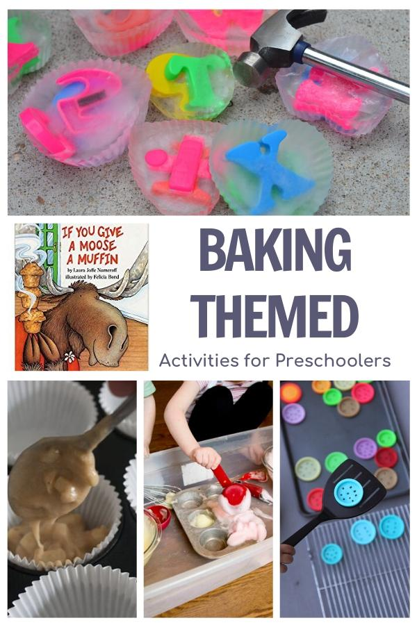 Baking themed activities featuring the book If you Give a Moose a Muffin