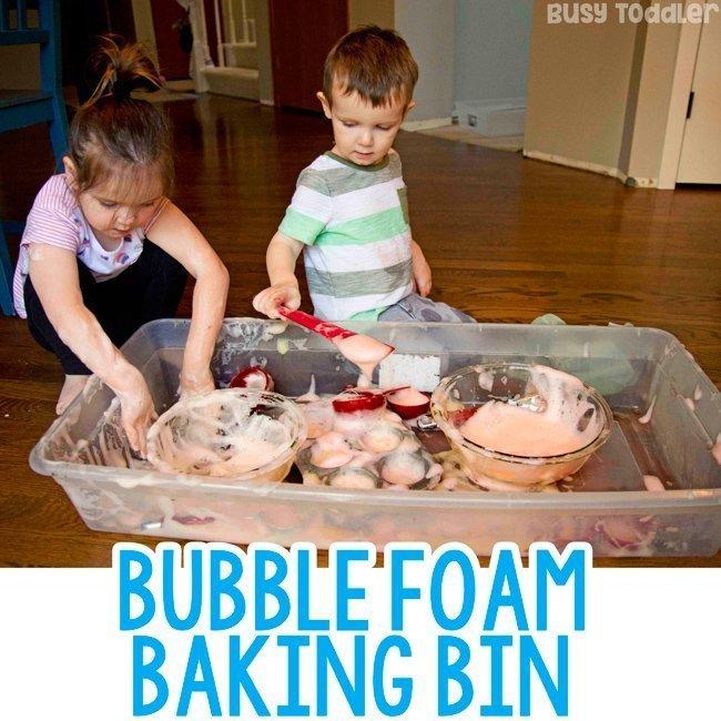 Bubble Foam Baking Bin - Busy Toddler