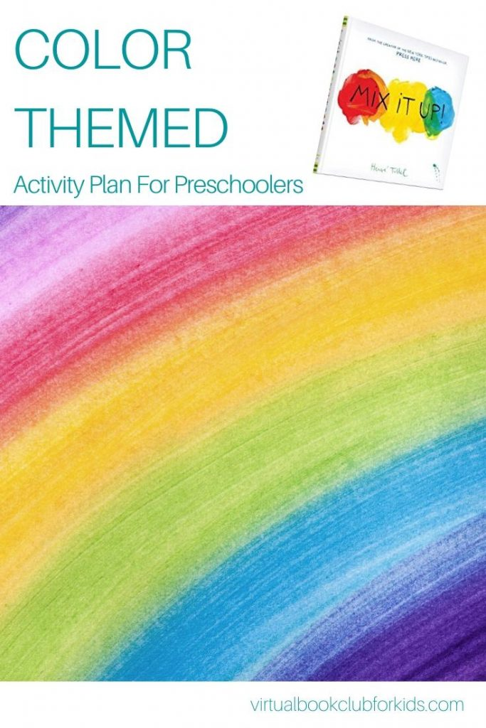 color themed activity plan for preschoolers featuring mix it up