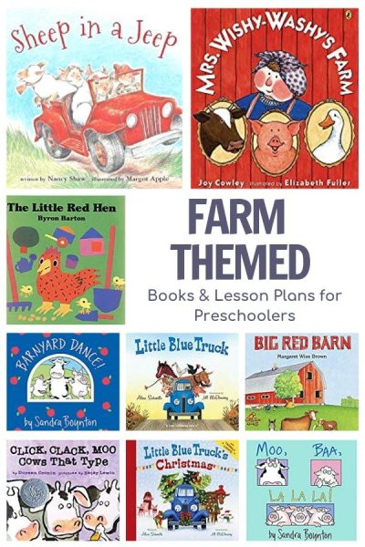 farm themed books and lesson plans for preschoolers