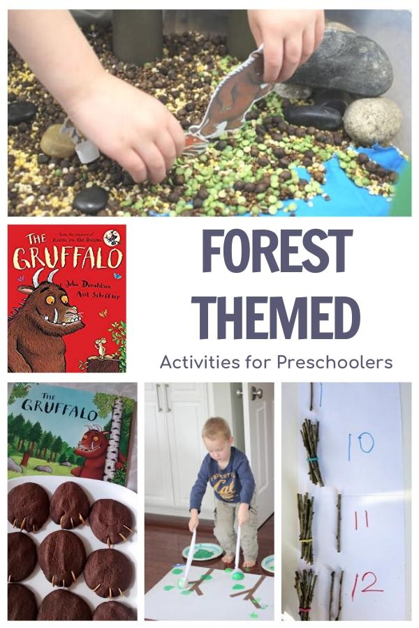 Forest week for preschoolers featuring The Gruffalo on the Virtual Book Club for Kids