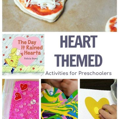 Heart Themed Activity Plan For Preschoolers Featuring The Day it Rained Hearts