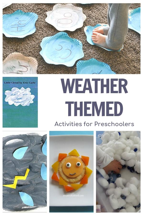 weather themed activities for preschoolers featuring Little Cloud by Eric Carle