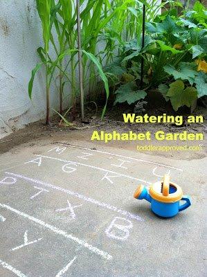 """Watering an """"Alphabet Garden"""""""