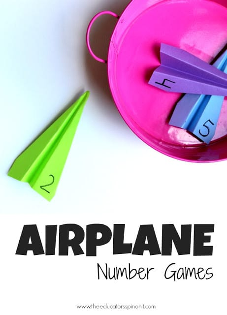 Airplane Number Games for Preschool Math
