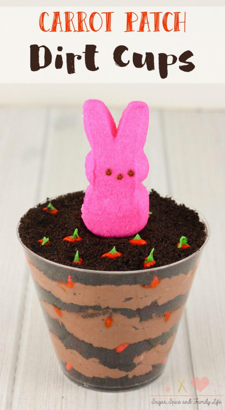 Carrot Patch Dirt Cake Cups Recipe