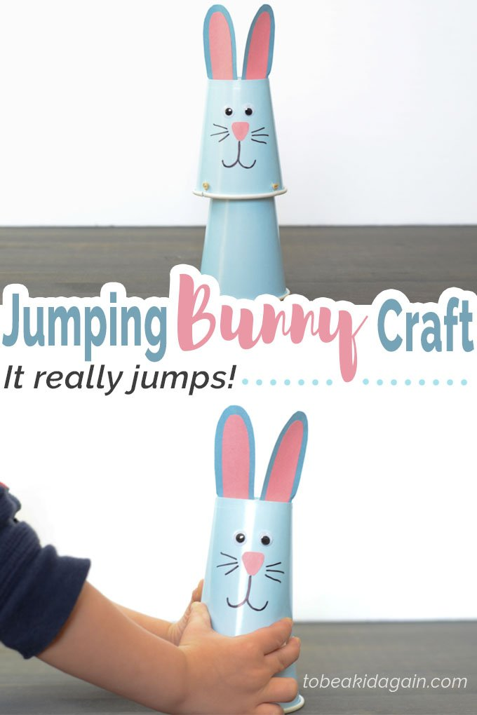 Jumping Bunny Cup Craft - Creative Little Explorers