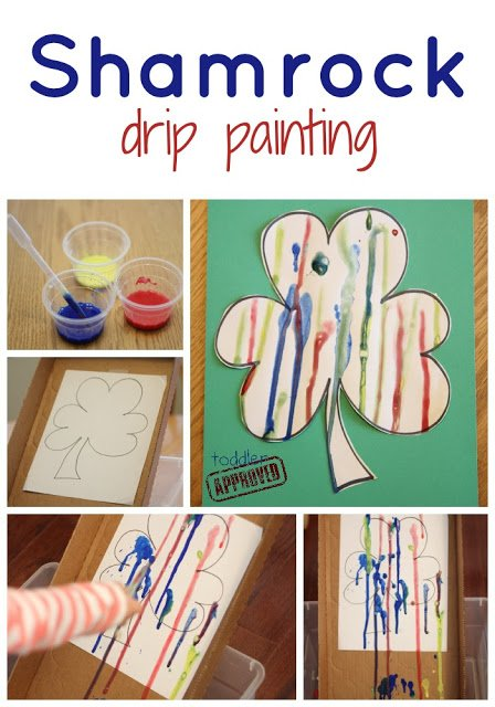 Shamrock & Easter Egg Drip Painting