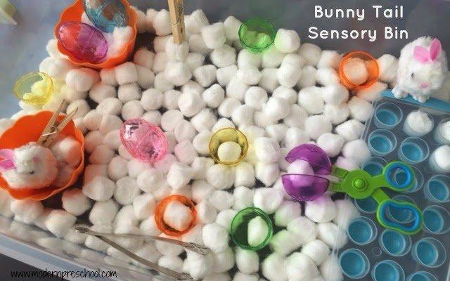Bunny {tail} Sensory Bin for Preschool