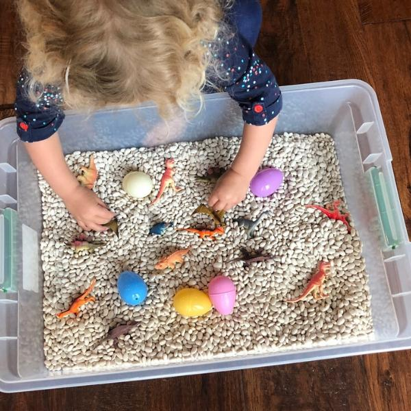 dinosaur sensory play activities