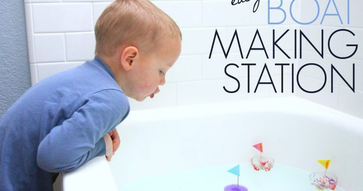 Create a Boat Making Station for Kids