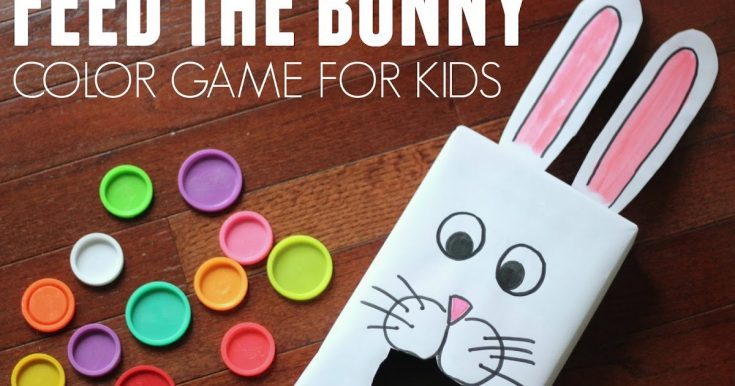 Cereal Box Feed the Bunny Color Game for Kids