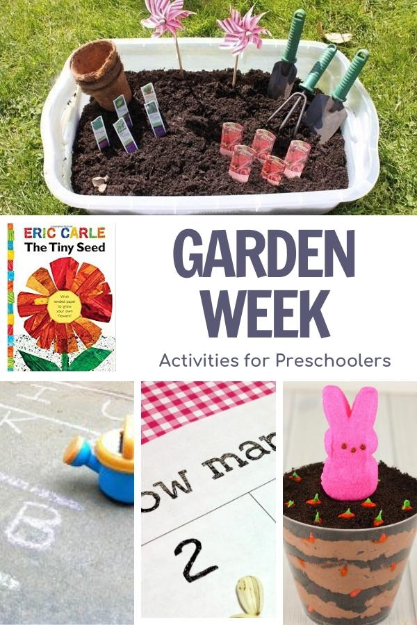 garden themed activities for preschoolers inspired by The Tiny Seed by Eric Carle