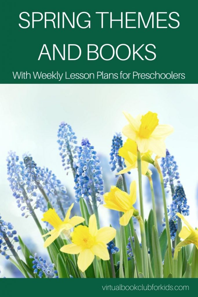 spring themed lesson plans and book lists for preschoolers