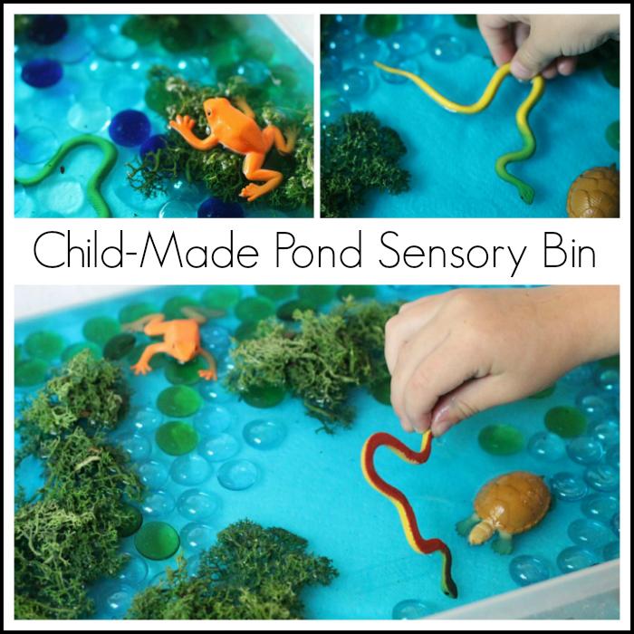 Simple Pond Sensory Play Idea