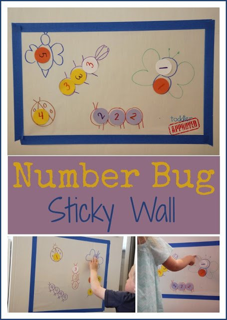 Number Bug Sticky Wall