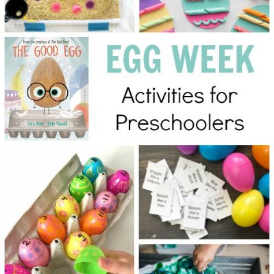 Egg Week for Preschoolers Featuring the Good Egg