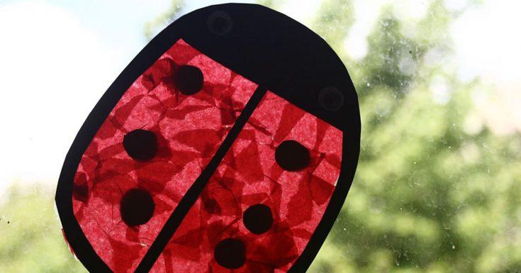 Ladybug Suncatcher Craft for Toddlers and Preschoolers
