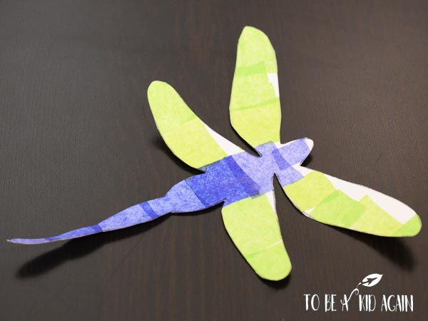 Tissue Paper Dragonfly Craft - Creative Little Explorers