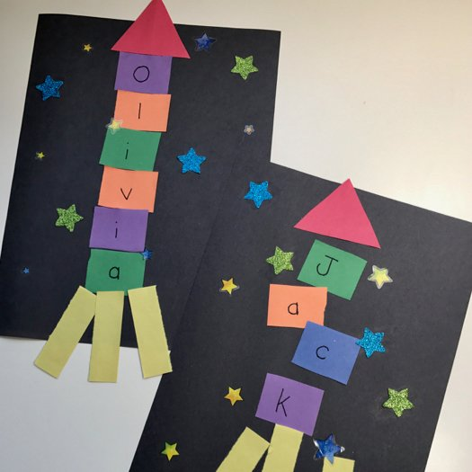 Outer Space Crafts: Alphabet Spaceship Craft • The Inspired Home