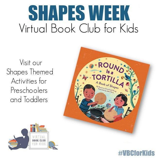 Shape Week Activity Plan for Preschool featuring Round is a Tortilla