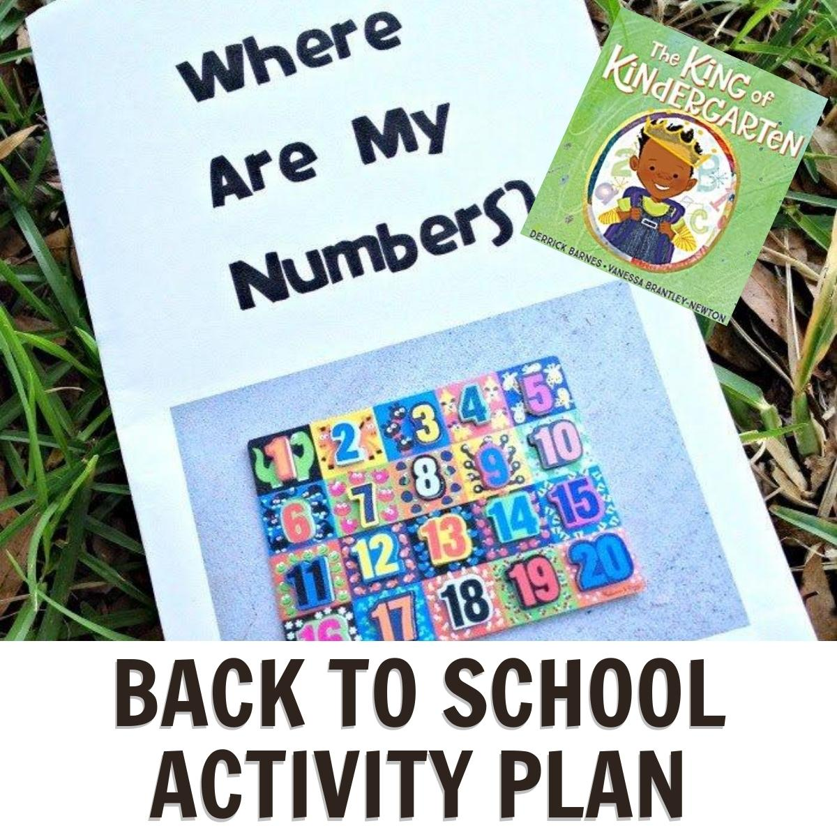 planned week of activities on the theme of back to school for preschoolers