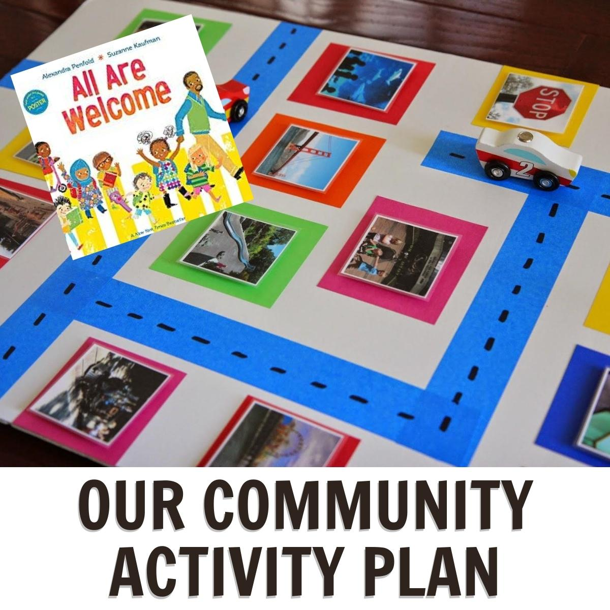 Community Theme for Preschoolers featuring All Are Welcome Here by Alexandra Penfold