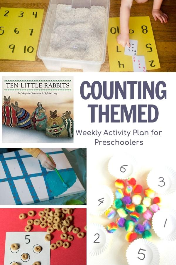 counting activities collage for preschoolers