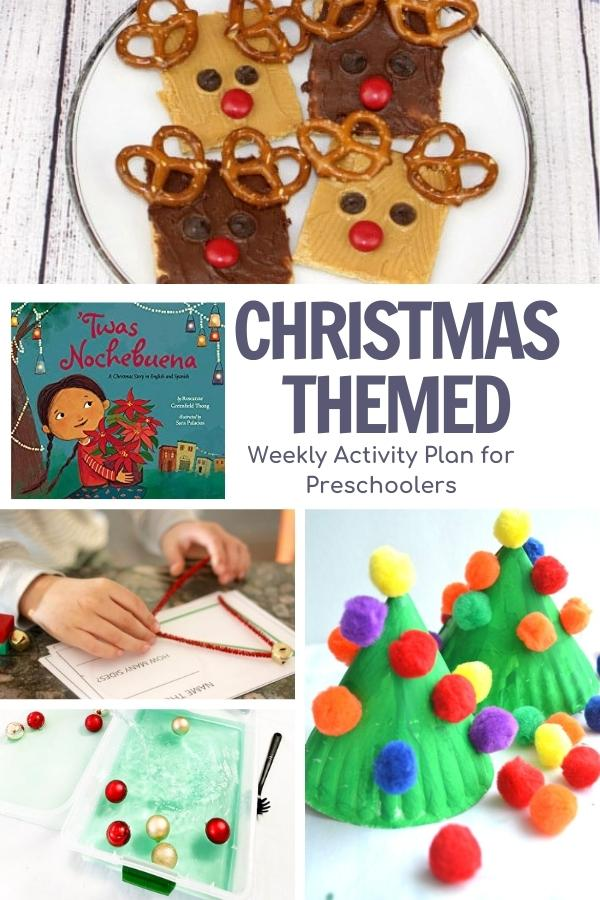 pinterest image for Christmas week from the Virtual Book Club for Kids