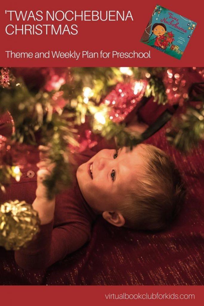 Twas Nochebuena Activity Plan for Preschooler Pinnable Image
