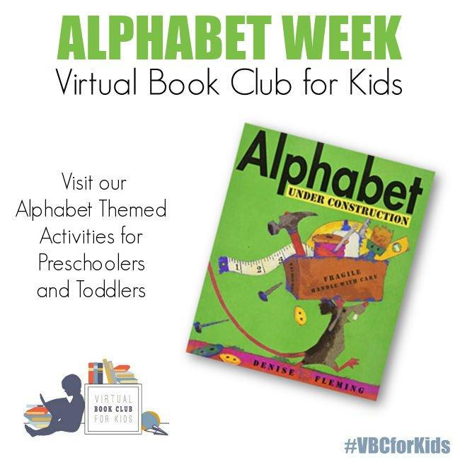 Alphabet Weekly Activity Plan featuring Alphabet Under Construction