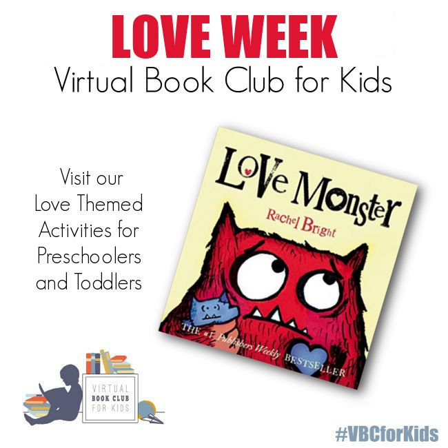 Love Themed Week Plan for Preschoolers Featuring Love Monster